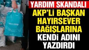 BERGAMA BELEDİYE BAŞKANINDAN YARDIM SKANDALI !