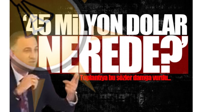 BELEDİYE MECLİS ÜYESİ SORDU 45 MİLYON DOLAR NEREDE?