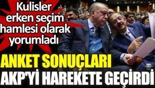 Anket sonuçları AKPyi harekete geçirdi. Kulisler erken seçim hamlesi olarak yorumladı